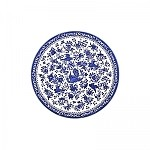 "Blue Regal Peacock 10"" Dinner Plate"