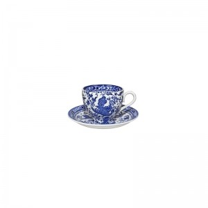 Blue Regal Peacock Teacup and Saucer