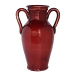 Antica Firenze Rosso Two Handled Crimson Vase