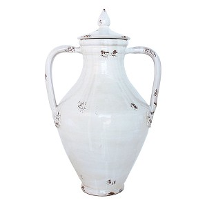Domus Perla Covered Urn with Two Handles