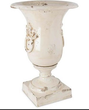 Museo Ivory Vase with Lion Handle