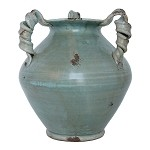 Fortunata Arno Silvery Three Handle Vase
