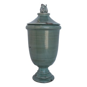 Fortunata Arno Silvery Olympia Urn with Lid