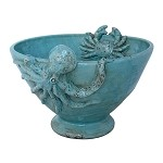 Mediterraneo Granchio Turquoise Fruit Bowl