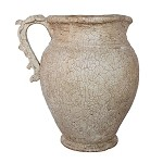 Pietra Natural Large Pitcher with Leaf Handle