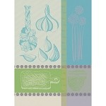 Gousse d'Ail Blue Kitchen Towel