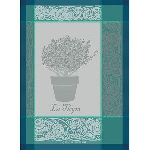 Thym Turquoise Kitchen Towel
