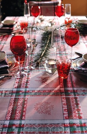 "Mille Noel Tablecloth -Chalet 71"" x 71"""