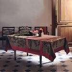 Fougeres Tablecloth -Cranberry