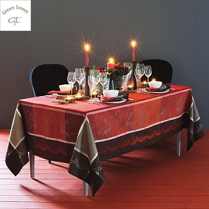 Santa Klaus Tablecloth - Cerise