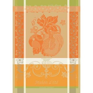 Melon Orange Kitchen Towel - 100% Cotton