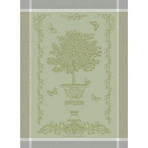 BUTTERFLY GARDEN Vert Opaline KITCHEN TOWEL - 100% cotton