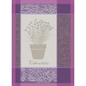 CIBOULETTE Violette KITCHEN TOWEL - 100% cotton