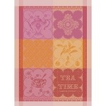 CUP OF TEA Fuchsia KITCHEN TOWEL - 100% cotton