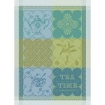 CUP OF TEA Turquoise KITCHEN TOWEL - 100% cotton