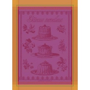 GATEAUX MERVEILLEUX Framboise KITCHEN TOWEL - 100% cotton