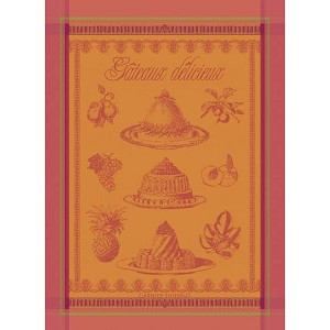 GATEAUX DELICIEUX Apricot KITCHEN TOWEL - 100% cotton