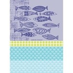 ECAILLES Outremer KITCHEN TOWEL - 100% cotton