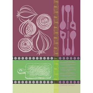 OIGNONS Mauve KITCHEN TOWEL - 100% cotton