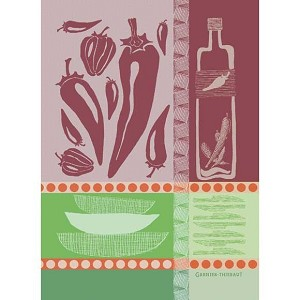 PIMENTS Rouge KITCHEN TOWEL - 100% cotton