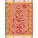 RECEPTION P�che KITCHEN TOWEL 100% cotton - RETIRED