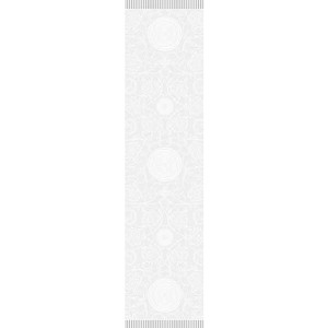 "APOLLINE WHITE Runner 21""X59"", GREEN SWEET"