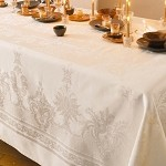 BEAUREGARD IVORY Tablecloth , 100% COTTON