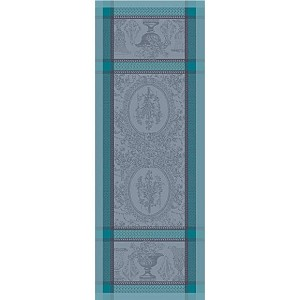 "FLANERIE GIVRE Tablerunner 22""x59"", GREEN SWEET"