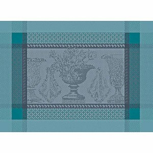 "FLANERIE GIVRE Placemat 22""x16"", GREEN SWEET set/4"