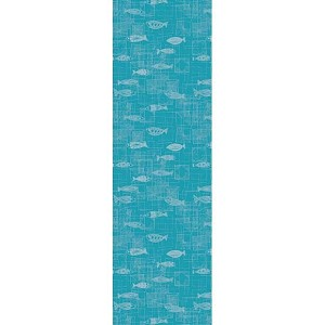 MILLE MICA TURQUOISE Tablerunner 22 X 71