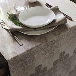 Mille Epis Natural Tablecloth, 100% Cotton or Coated
