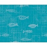 MILLE MICA TURQUOISE Placemat, Coated  16 X 20 Set of 4