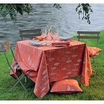 MILLE MICA VERMILLON Tablecloths