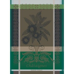 CHATAIGNES Marron KITCHEN TOWEL - 100% cotton