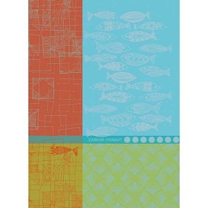 SARDINES Marine KITCHEN TOWEL - 100% cotton
