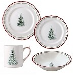 Gien Filet Noel Place Setting