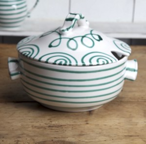 Vertigo Green Flame Soup Tureen