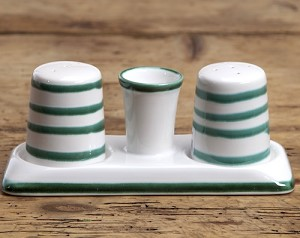 Vertigo Green Flame Salt and Pepper Set