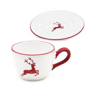 Red Stag Gourmet Coffee Cup w/Saucer