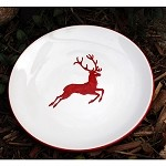 Red Stag  Dessert Plate