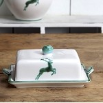 Stag Butter Dish 7""