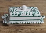 Vertigo Green Flame Butter Dish New