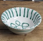 Vertigo Green Flame Salad Bowl 7.75""