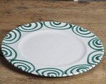 Vertigo Green Flame Gourmet Dinner Plate 10.75''