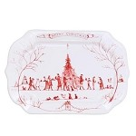 Country Estate Winter Frolic Gift Tray Merry Christmas, Ruby