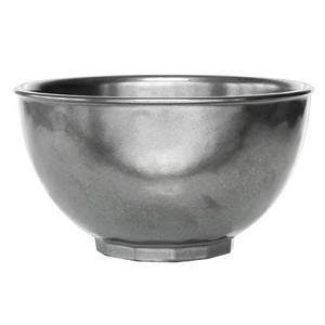 Pewter Cereal / Ice Cream Bowl