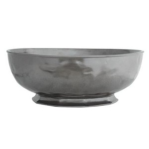 Pewter Large Round Serving Bowl