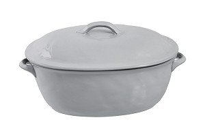 Quotidien Lg Covered Casserole White Truffle