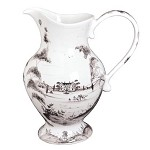 Country Estate Lg Footed Pitcher Flint Retired