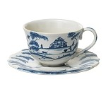 Country Estate Tea/Coffee Cup Garden Follies Delft Blue